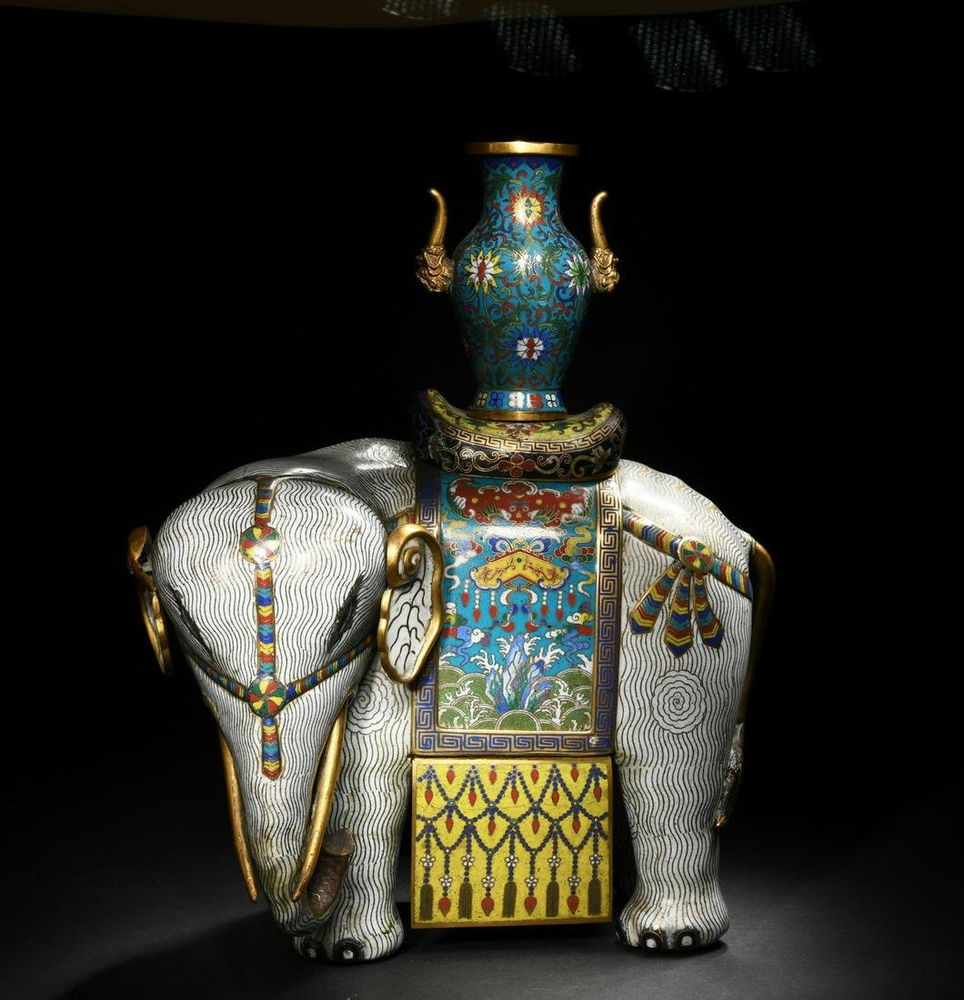 Chinese Cloisonne Elephant, Late 18th Century