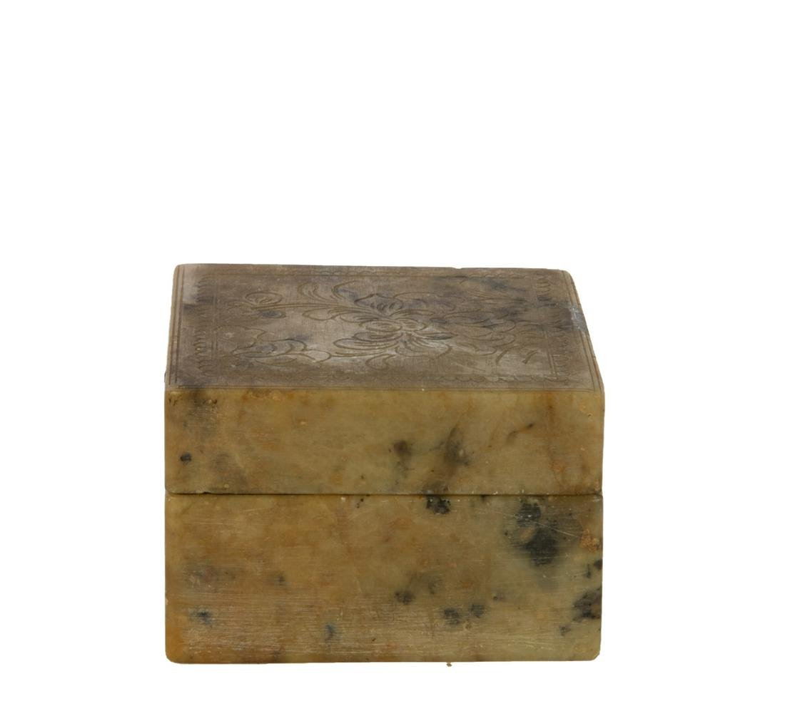 Soapstone Ink Box, Early 20th Century