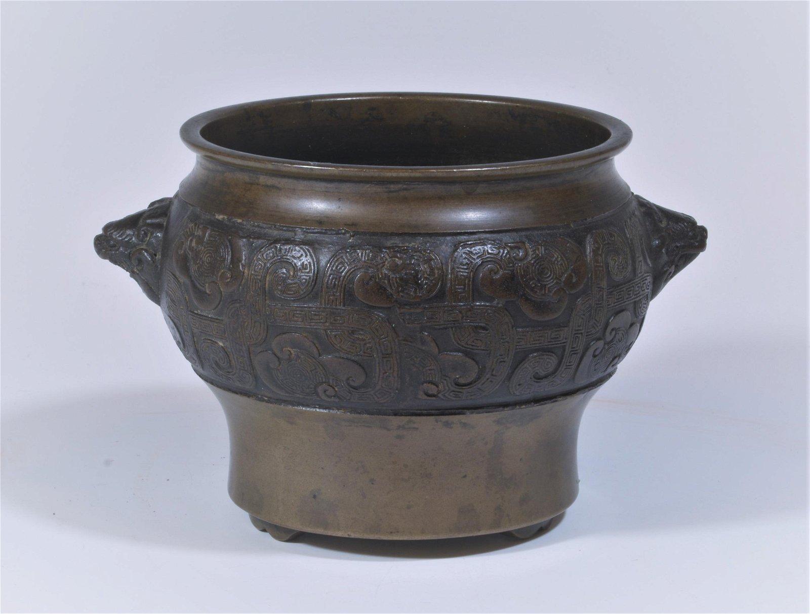 Chinese Bronze Incense Burner, 19th Century
