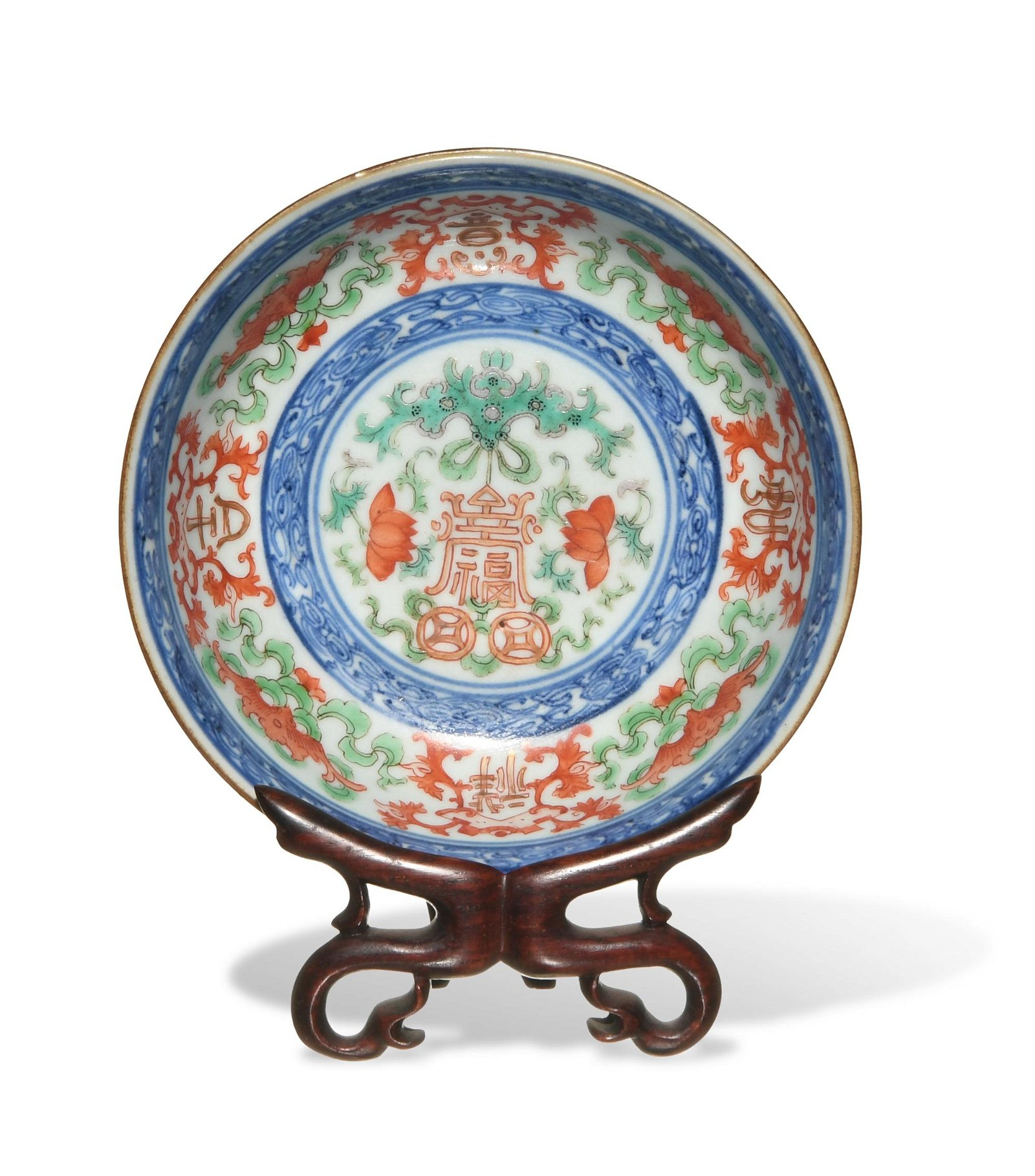 Imperial Chinese Famille Rose Bowl, Jiaqing