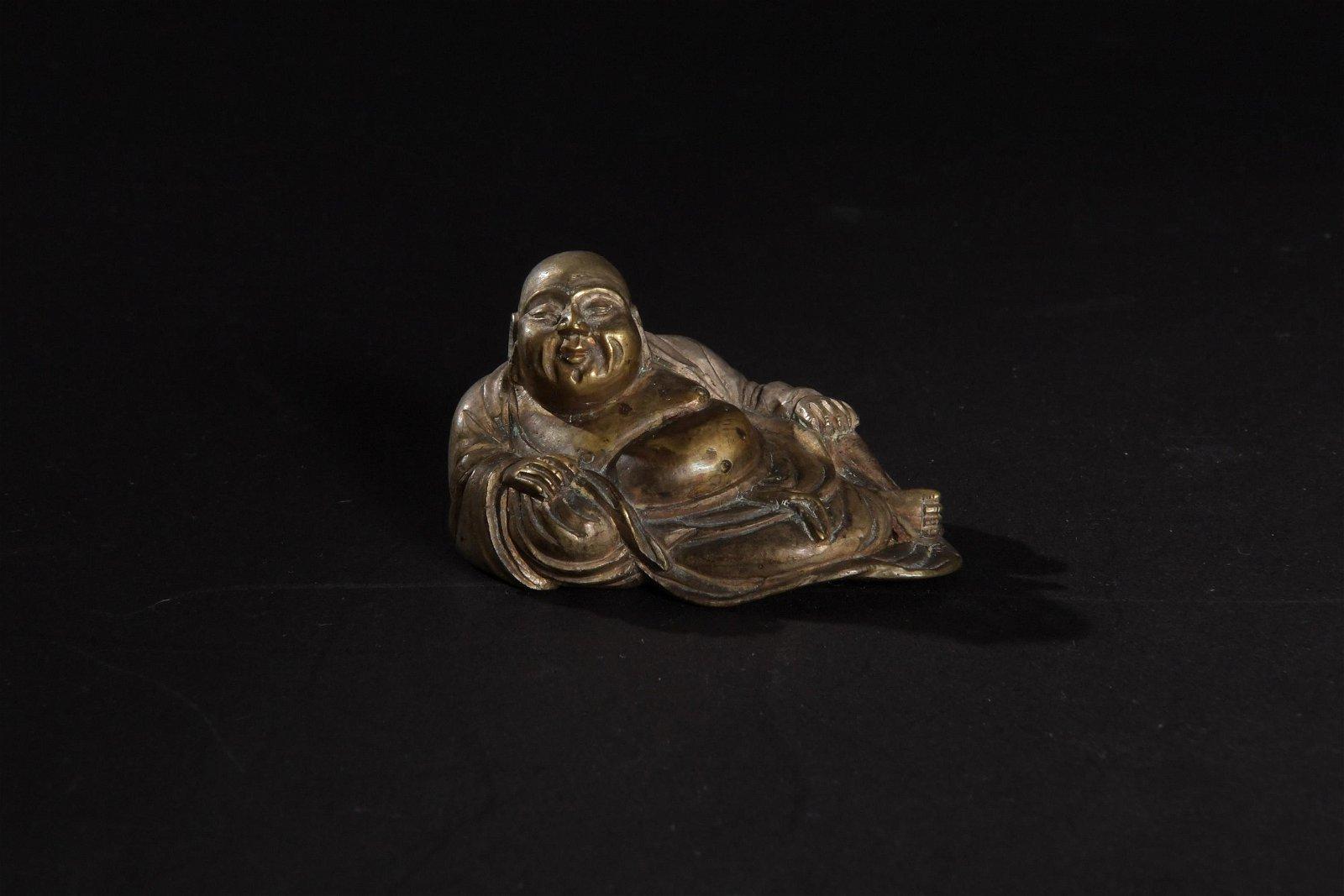 Small Bronze Buddha, 18-19th Century