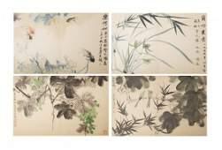 Chinese Painting Portfolio by Daqian, Jiyuan, etc.