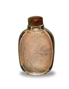 Chinese InsidePainted Snuff Bottle by Zhou Leyun
