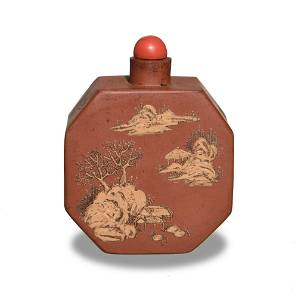 Chinese Yixing Zisha Snuff Bottle, Qianlong