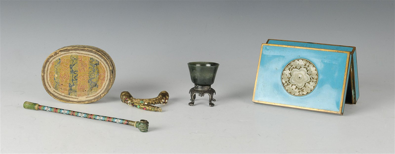 Group of Chinese Jade and Silver, 19th Century