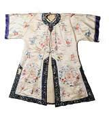 Chinese White Ground Ladies Robe, Republic