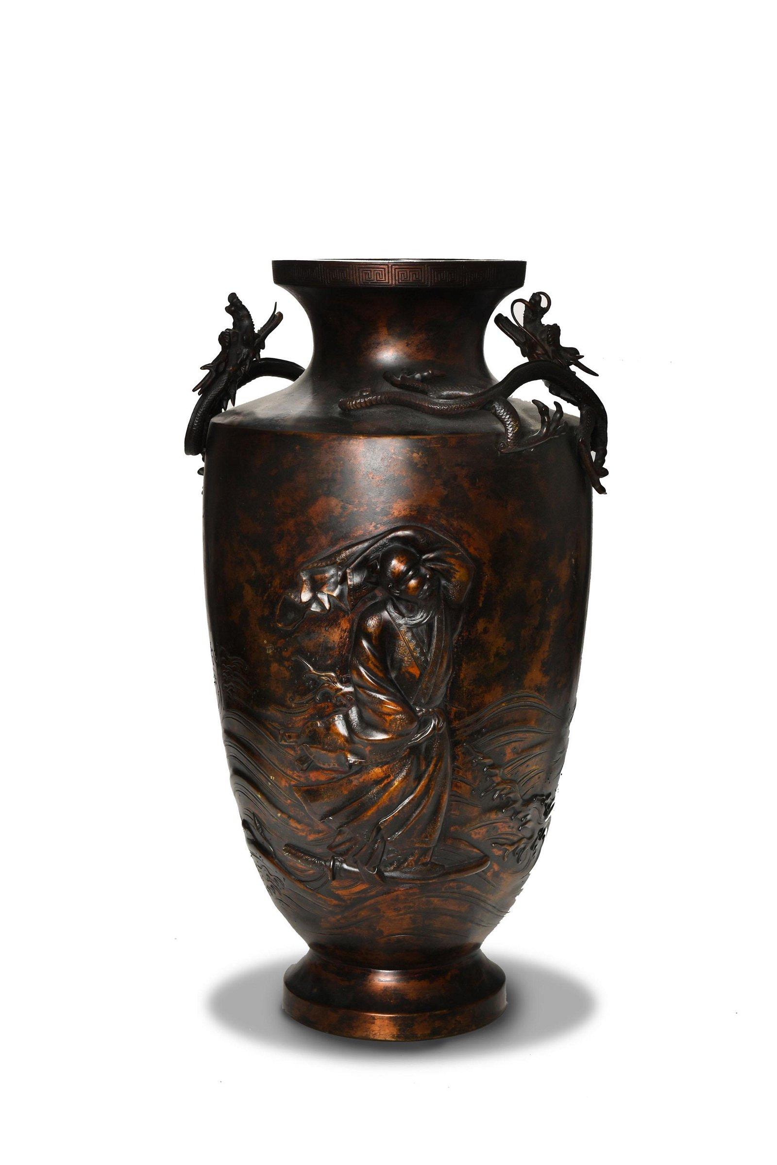 Japanese Bronze Vase, 19th Century
