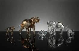 Swarovski, 4 Boxed SCS Elephants Inc. Cinta