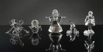 Swarovski 5 Boxed Figures Angel Jester Etc