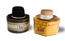 Pair of Vintage Mens Fedora  Panama Hats