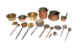 17 Pieces of Antique Copperware  Metal Ware