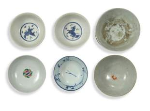 6 Chinese Porcelain Bowls, Qing