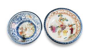 2 18th Century Chinese Export Porcelain Bowls