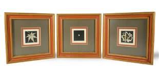 3 Woodblock Prints by Haku Maki
