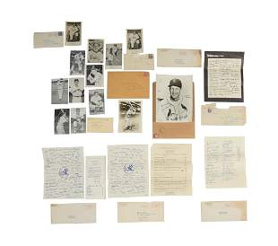 20 Stan Musial Autographed Photos and BB Fan Cards