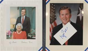 George W. Bush Autograph in Official Binder