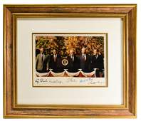Color Photograph Signed by Five Presidents