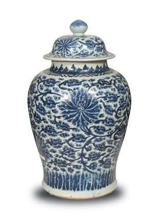 Large Chinese Blue and White Ginger Jar, Kangxi