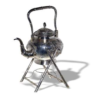 Chinese Export Silver Teapot, 19th Century