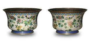 Pair of Chinese Cloisonne Jardinieres, 19th Century