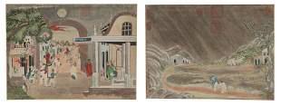 2 Chinese Paintings attrib. Giuseppe Castiglione