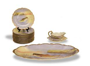 Old Abbey Limoges, 15 Piece Fish Set