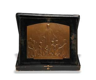 1903 Bronze Plaque The Children's World Exhibition