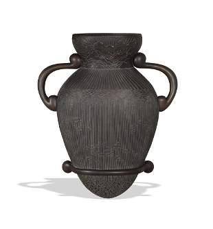 Diana K. Moore, Bronze Bas Relief Urn