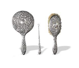 Sterling Mirror and Brush, Gorham Button Hook