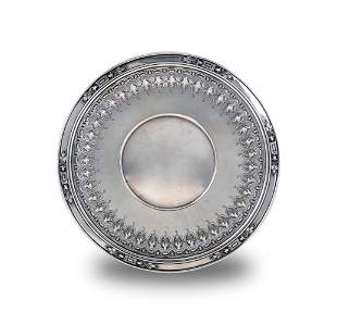Reticulated Sterling Bread Plate by William Durgin