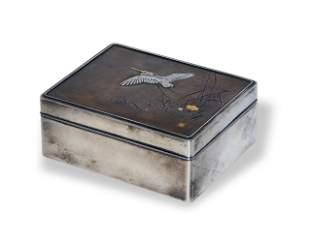 Japanese Silver Mixed Metal Box