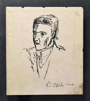 Sketch of a Man attributed to Pablo Picasso 1904