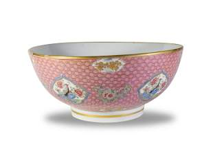 Chinese Export Style Famille Rose Bowl, 18th Century