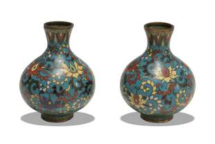 Pair of Chinese Cloisonne Vases, 19th Century