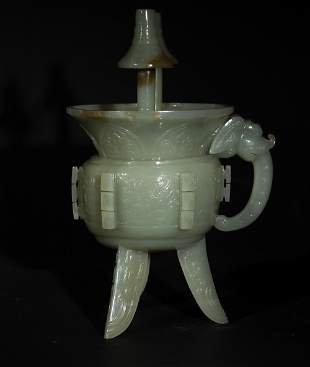 Chinese Jade Jue Cup, 19th Century