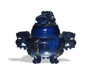 Chinese Lapis Lazuli Incense Burner