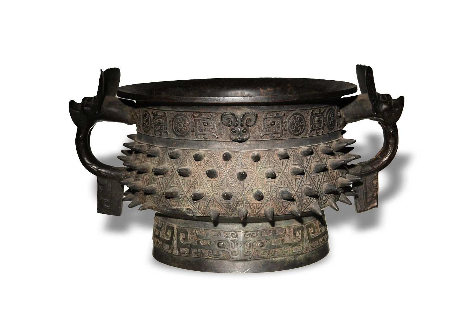 Chinese Zhou Style Bronze Gui, Ming or Qing