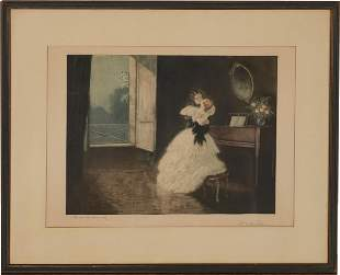 Charles Naillod Signed Color Etching
