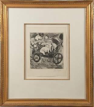 Marc Chagall Etching, Fables de la Fontaine 88/100