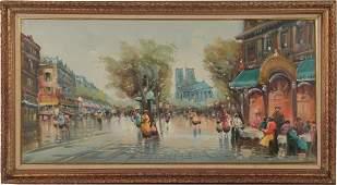 Oil on Canvas, Paris, Manner of Antoine Blanchard