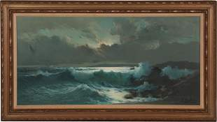 Ensel Salvi, Oil on Canvas Seascape