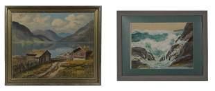Leiv Ericksen Oil, Norway - Walt Harris Watercolor