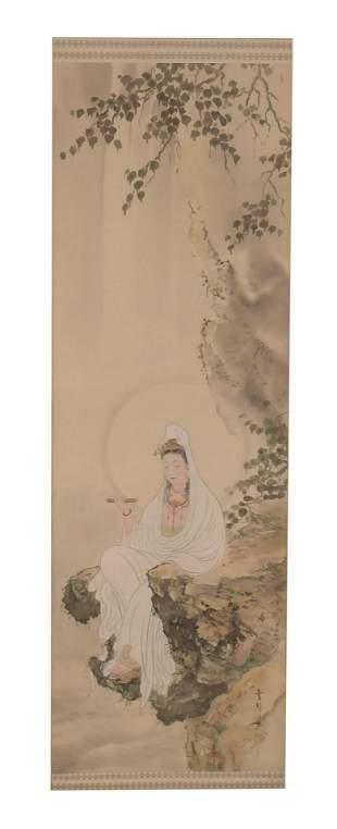 Chinese Painting of Guanyin by Yun Qin Nv Shi
