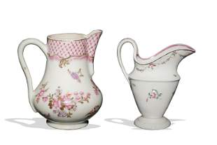 2 Chinese Export Famille Rose Porcelain Creamers