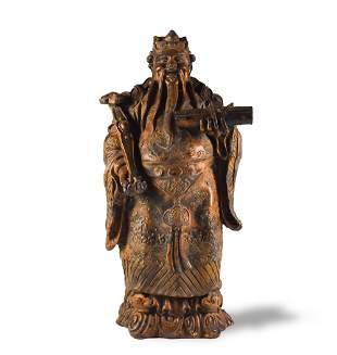 Carved Wood Figure of Lu