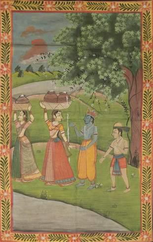 Indian Painting of Vishnu