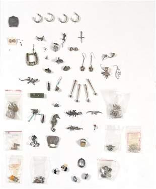 Lot of Sterling Pins, Earrings etc. Inc. Navajo