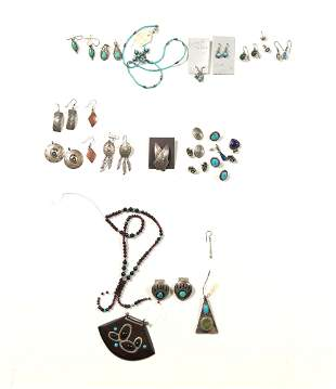 Sterling, Turquoise, Lapis Jewelry Inc. Navajo