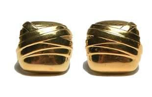 Pair of 18K Gold Modernist Earrings