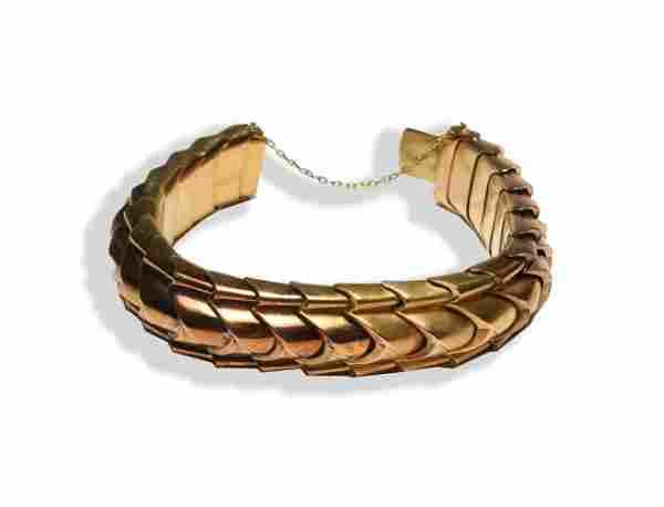 Ladies 15K Gold Modernist Bracelet